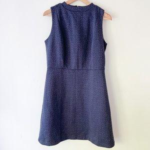 ANN TAYLOR LOFT Navy Blue Sleeveless Dress